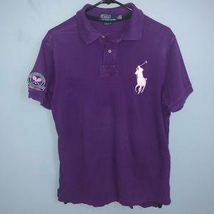 Men's Ralph Lauren Wimbledon purple polo